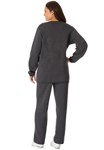 Women's Plus Size Tall Fleece 2-Pc Sweatsuit manitobah унты tall gatherer mukluk мужские черный