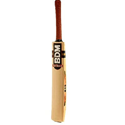 BDM Old Gold English Willow Cricket Bat, Short Handle