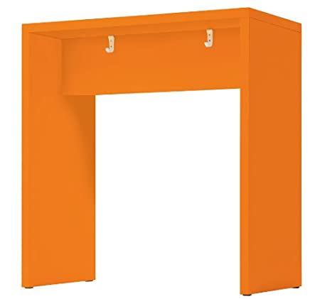 Amstyle Meeting Point | Mesa de madera | Mesa de reuniones en 3 colores (naranja)