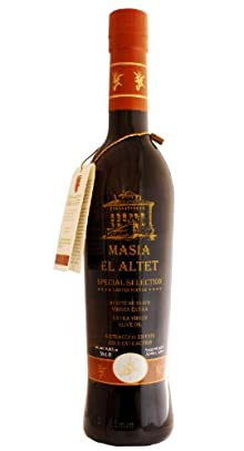 Masia el Altet Special Selection- Award Winning Cold Pressed EVOO Extra Virgin Olive Oil, 2012-2013 Harvest, 17-Ounce Glass Bottle