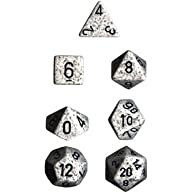 Polyhedral 7-Die Speckled Dice Set -…