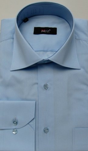 MUGA mens shirts for Casual and Formal, Medium Blue, Size M