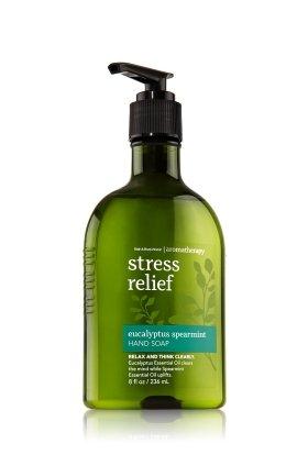 バス&ボディワークス アロマセラピー ストレスリリーフ ユーカリスペアミント ハンドソープ STRESS RELIEF Eucalyptus Spearmint Hand Soap