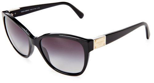 D&G Dolce & Gabbana 0DG4195 501/8G56 Butterfly Sunglasses,Black,56 mm