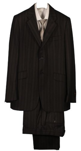 Paul Smith Single Breasted Block Stripe Suit - Black