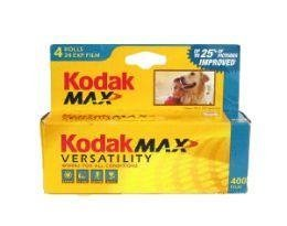 Kodak Gold 400 ISO 400, 35mm, 24 Exposures, Color Negative Film (4 Roll per Pack)