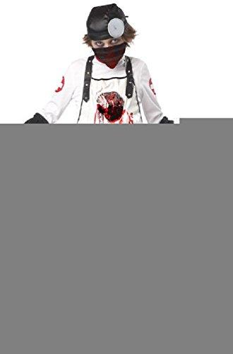 [8eighteen Doctor Open Heart Surgeon Zombie Child Halloween Costume] (Ninja Zombie Costumes Child)