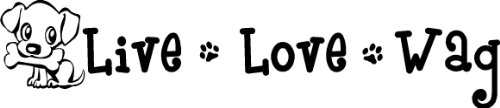 #2 Live Love Wag Cute Puppy Wall Art Wall Sayings Quotes Paw Prints