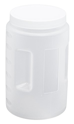 United Solutions FS0006 Clear Two Quart Plastic Food Canister with White Lid- 2QT Plastic Food Storage Container in Clear and White Lid (Plastic Container With Lid compare prices)