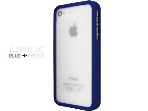 iPhone 4S / 4 Novoskins UmiX Blu Bumper e Matt Trasparente Dual Piece Hard Case (Buy Any UMIX Case and Get 1 RANDOM Colour Case Free)