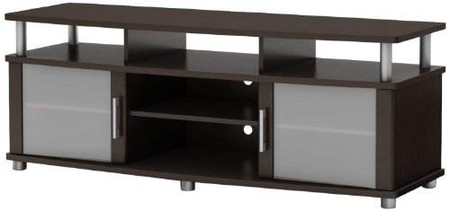South Shore City Life Tv Stand, Chocolate Finish front-648921