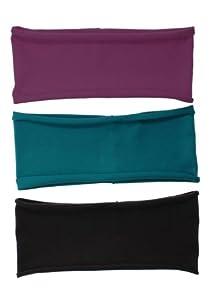 "3 PACK: Single Layer Cotton Spandex 4.5"" Raw Edge Sports & Yoga Headband"