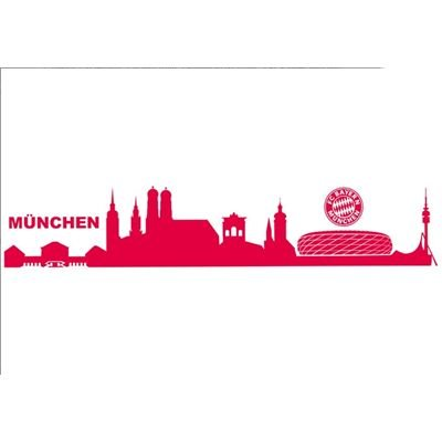 alenio wandtattoo fc bayern m nchen skyline mit logo. Black Bedroom Furniture Sets. Home Design Ideas