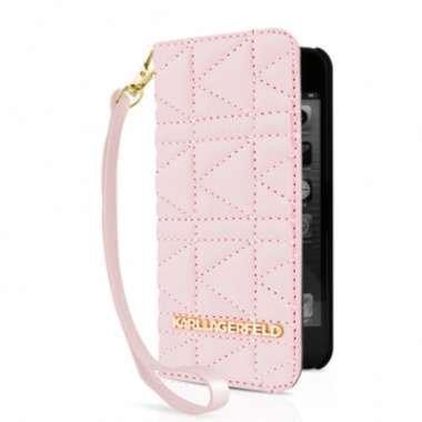 protector-acolchado-funda-rosa-karl-lagerfled-correa-para-apple-iphone-5s