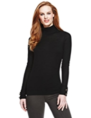 M&S Collection Pure Merino Wool Roll Neck Jumper
