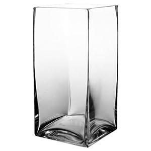 "9-1/2"" Tall Square Vase"