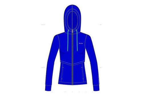 Felpa con cappuccio Reebok Classic con cappuccio blu/viola K34174 taglia media