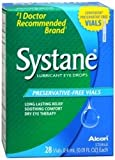 Systane Lubricant Eye Drops-0.01 Oz, 28 Ct Preservative Free Vials