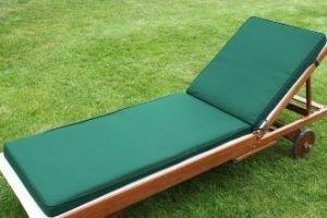Uk gardens couleur vert coussin matelas de chaise for Amazon uk chaise longue