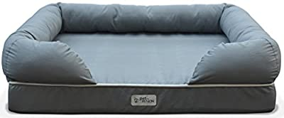 PetFusion Ultimate Dog Lounge & Bed. Premium Edition with Solid Memory Foam