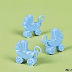 Pastel Blue Baby Carriage Baby Shower Favors