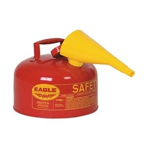 Type I Safety Can, 2 Gal., Red, 9-1/2In H