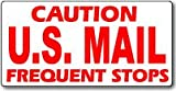 """USPS Rural Carrier Magnetic Sign 24x12"""" Caution US Mail Frequent Stops Car Magnet"""