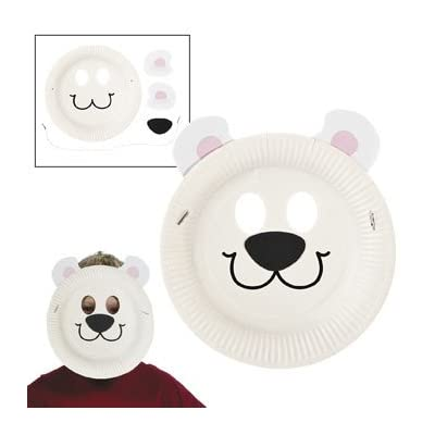 Amazon.com: Paper Plate Polar Bear Mask Craft Kit - Crafts for Kids ...