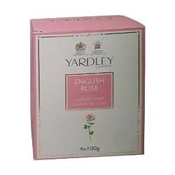 Yardley English Rose Bathing Soap, 100g (Pack of 4)