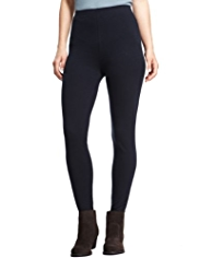 Indigo Collection Cotton Rich Side Seam Leggings