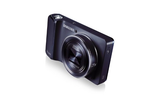 Samsung Galaxy Camera with Android Jelly Bean v4.2 OS, 16.3MP CMOS with 21x Optical  Zoom and 4.8″ Touch Screen LCD (WiFi – Cobalt Black) Special Offers