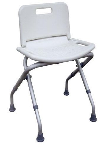 MedMobile Portable Folding Shower Bench with Back