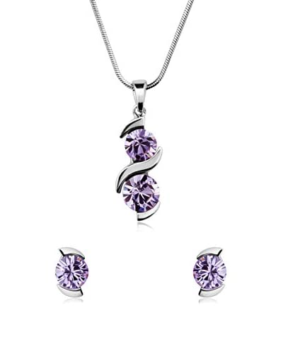 Passion Obscure Conjunto de cordón y pendientes  Violeta