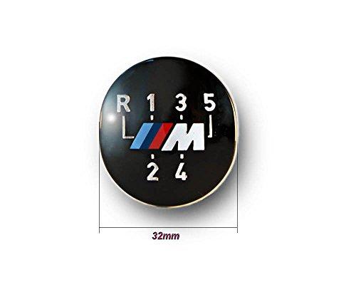 Original BMW M 5 vitesses gear stick pommeau Badge Emblème (25111221613) + BMW ///M logo Porte clés métal