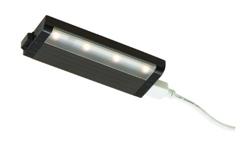 """Eco-Counter Under Cabinet Light Length: 8"""", Dimming: Yes, Finish: Satin Aluminum"""
