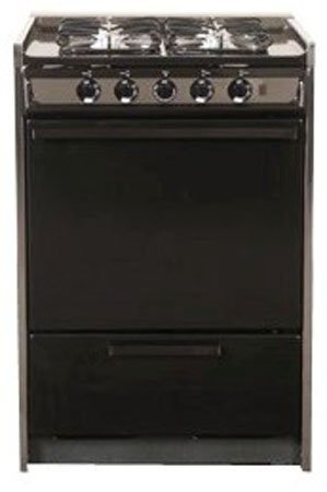 "Summit Tnm616R: Slide-In Gas Range In Slim 24"" Width, With Black Porcelain Construction And Four Sealed front-38211"