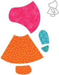 Accuquilt Go! Fabric Cutting Dies; Sunbonnet Sue front-868726