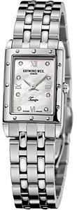 Raymond Weil Women's 5971-ST-00995 Tango Rectangular Steel 8 Diamonds Watch