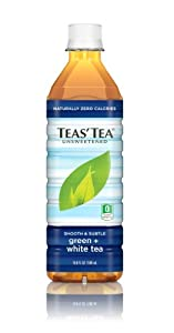 Teas' Tea, Unsweetened Green & White Tea, 16.9 Ounce (Pack of 12)