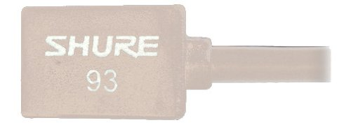 Shure Wl93-T Series Subminiature Condenser Lavalier Microphones, Wl93T - Tan, With 4-Foot (1.2 M) Cable