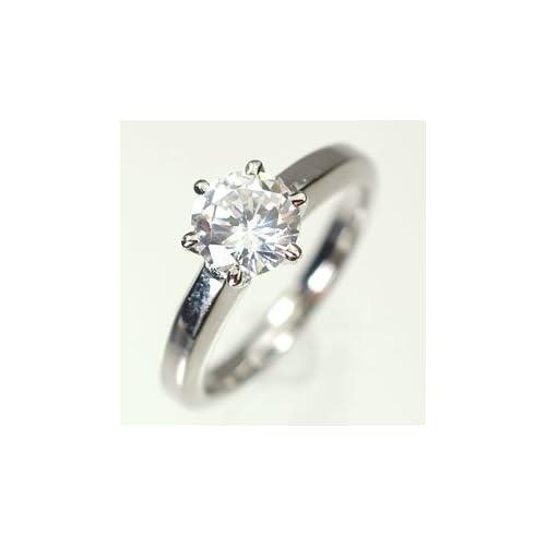 [キュートジュエリー]Cute jewerly プラチナ ダイヤモンド1.0ct (鑑定書付) エンゲージリング 14