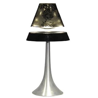 desk lamp floating spinning led table light black. Black Bedroom Furniture Sets. Home Design Ideas