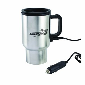 Brand New Electric Heated Stainless Steel Travel Car Coffee Mug w/ Adapter