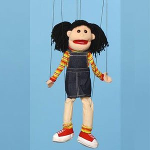 Sunny Toys WB1572 22 In. Hispanic Girl Marionette People Puppet - 1