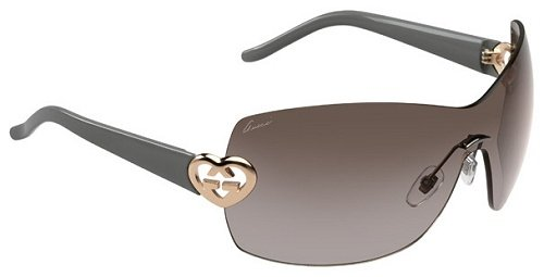 Gucci Für Frau 4200 Brown / Grey / Brown Gradient Randloses Gestell Sonnenbrillen
