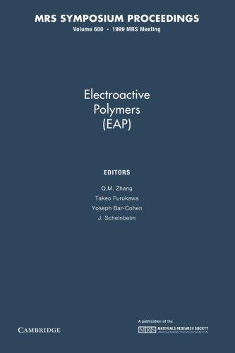 Electroactive Polymers (Eap): Volume 600 (Mrs Proceedings)