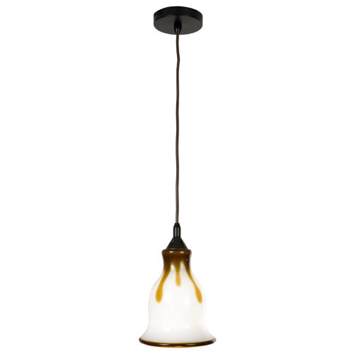 Checkolite 25312-36 Home Design Art Glass, 1-Light Pendant, Dark Bronze
