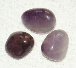 CRYSTALMIRACLE BEAUTIFUL SET OF SEVEN AMETHYST TUMBLE STONES POWERFUL CRYSTAL HEALING WELLNESS POSITIVE ENERGY METAPHYSICAL REIKI FENG SHUI HOME OFFICE HEALTH WEALTH PROTECTIVE LOVE (Pure Amethyst Crystal compare prices)