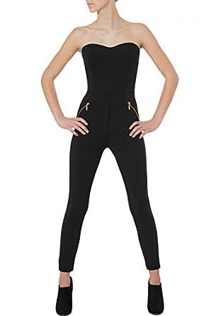 caspar womens jumpsuit catsuit one piece. Black Bedroom Furniture Sets. Home Design Ideas