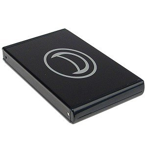 A-Power 2.5-Inch USB 2.0 Aluminum External IDE Hard Drive Enclosure with One Touch Backup